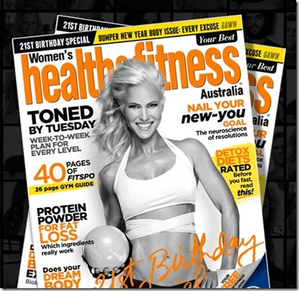 andrea albright in health and fitness magazine australia